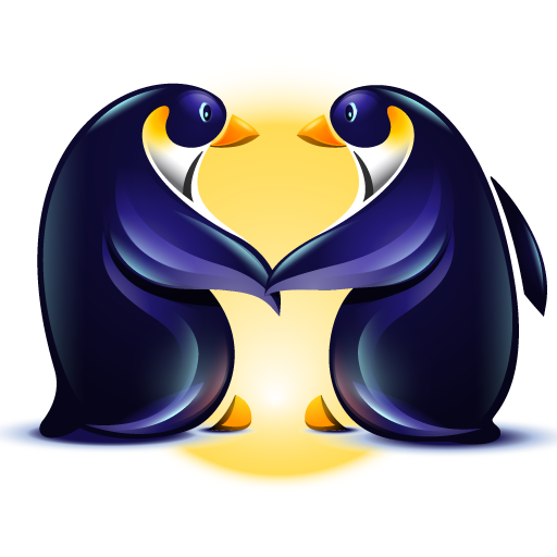 Loving Penguin Icon